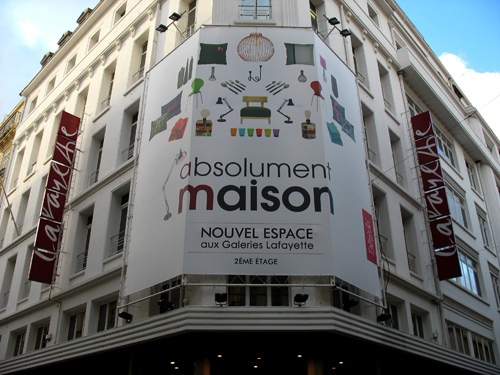 Dro x absolument maison galeries lafayette marseille for Absolument maison